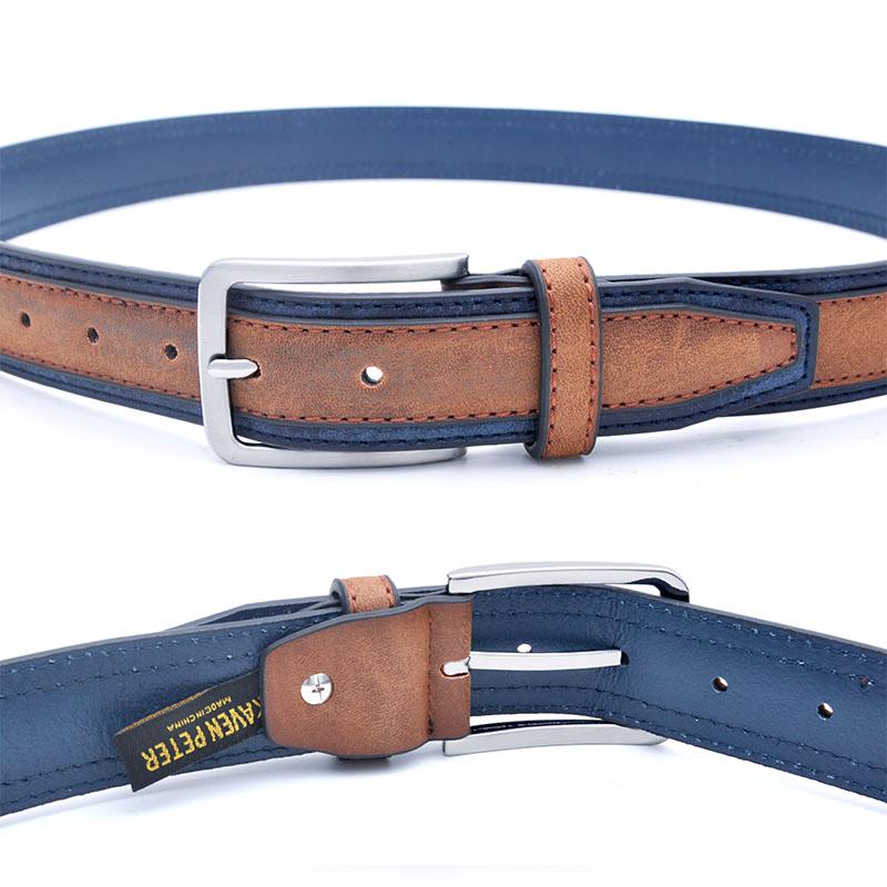 AUSTIN - Men's Leather Casual Belt by Kevin Peter's | Dukesman.com