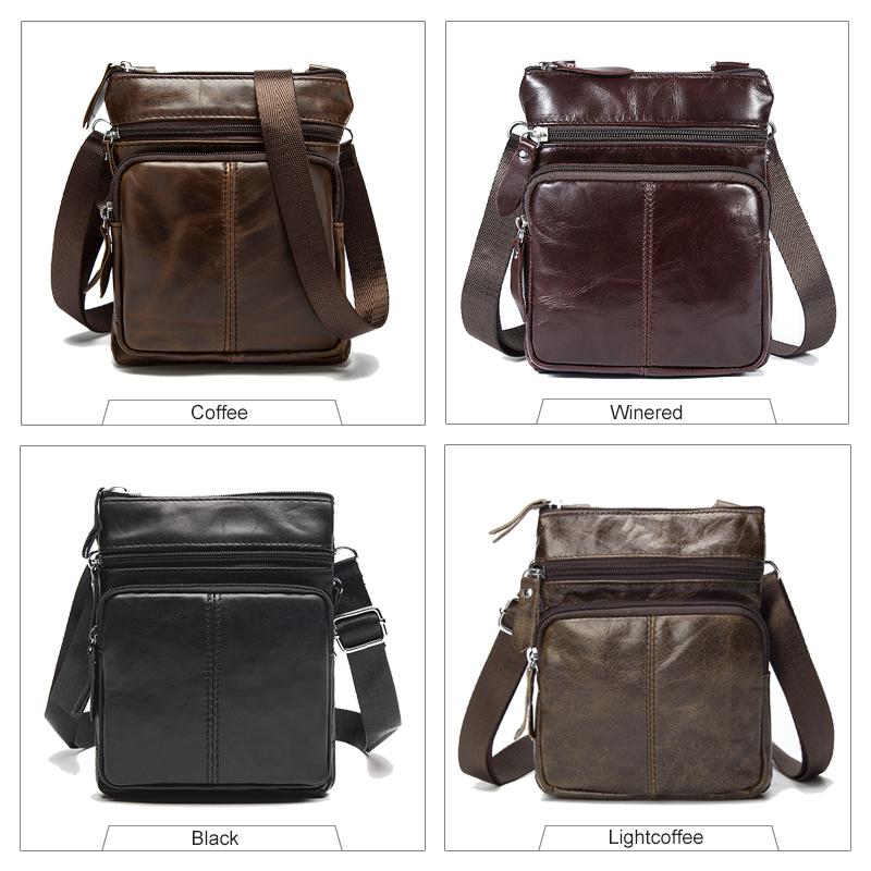 WESTAL Messenger Bag Men Shoulder bag Genuine Leather Small male man Crossbody bags for Messenger men Leather bags Handbags M701 | Dukesman.com