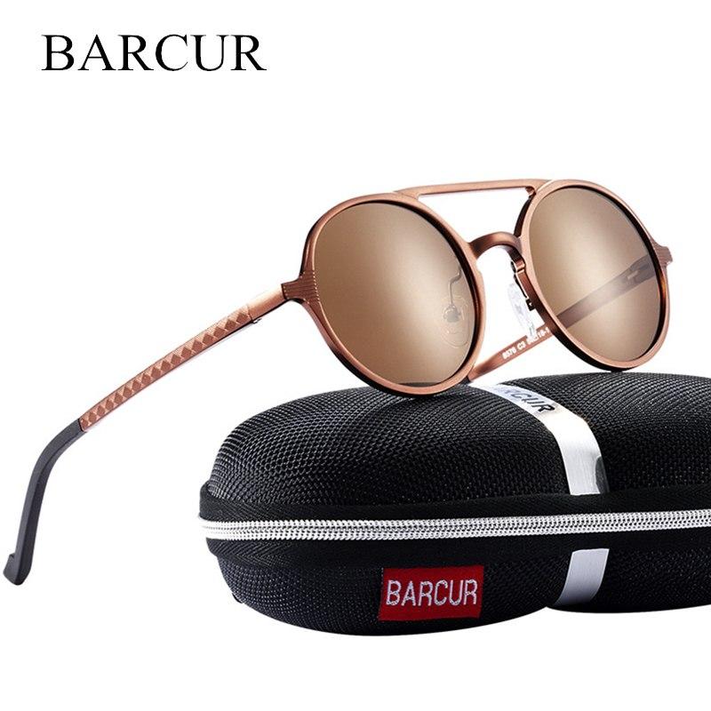 Brand Designer Steampunk Sun glasses Female Retro Aluminum magnesium Sunglasses Men Round Sunglasses Polarizes oculos de sol | Dukesman.com