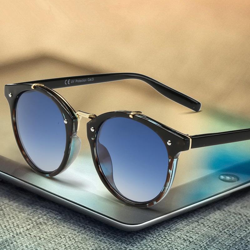 Retro Round Sunglasses with Shaded Lenses - (8 Colors) | Dukesman.com