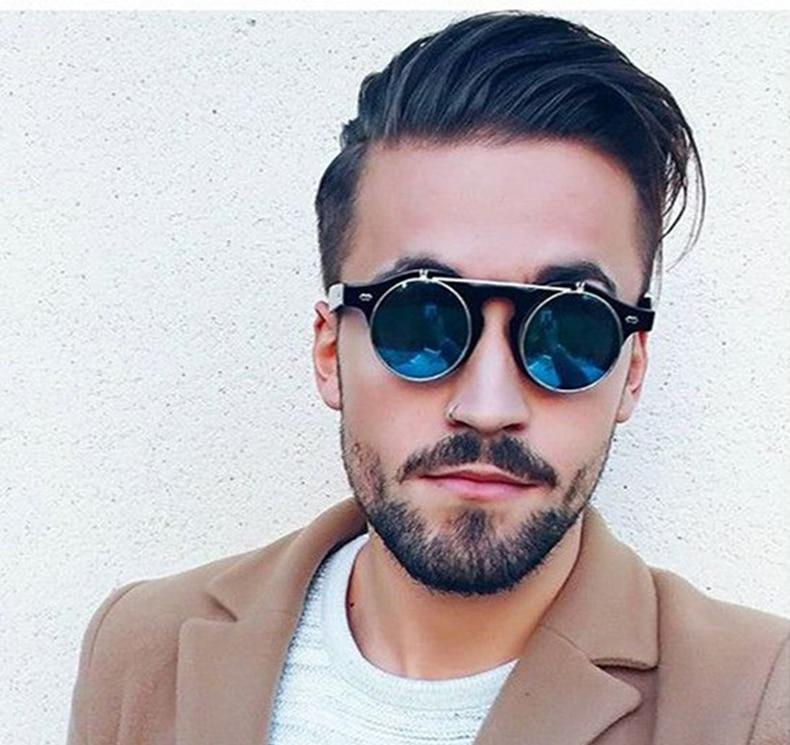 YOLO - Round Steampunk Sunglasses for Men | Dukesman.com