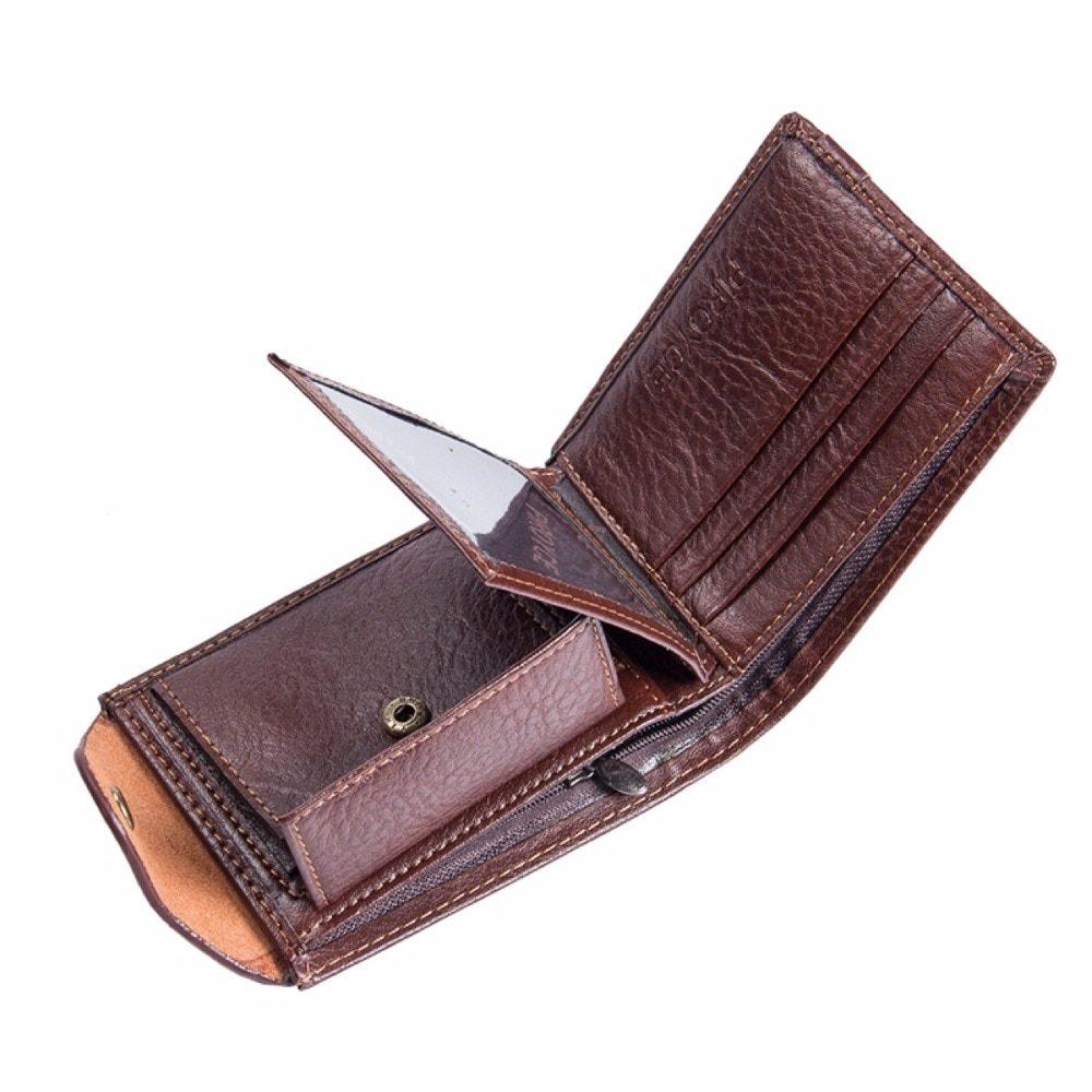 BOURBON -  Men's Vintage Compact Leather Wallet | Dukesman.com
