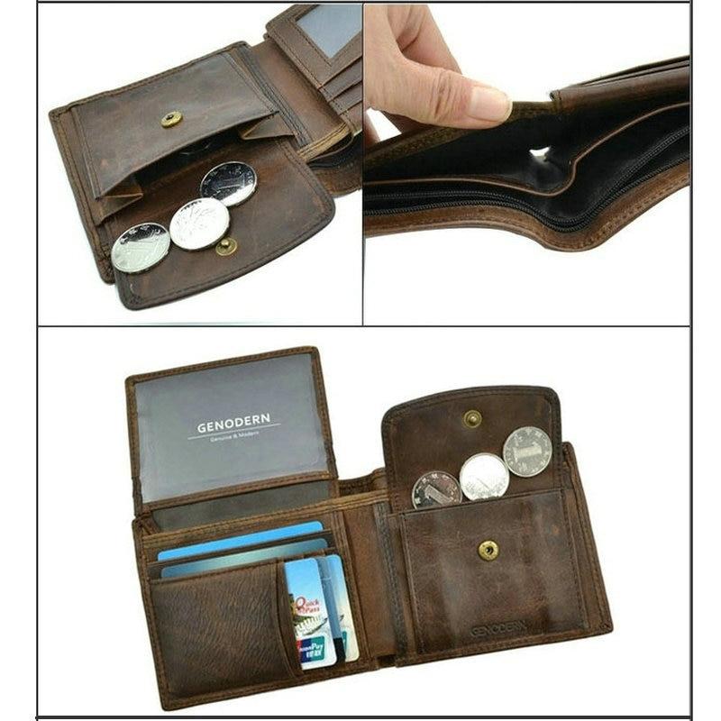 FUZE - Vintage Leather Wallet for Men | Dukesman.com