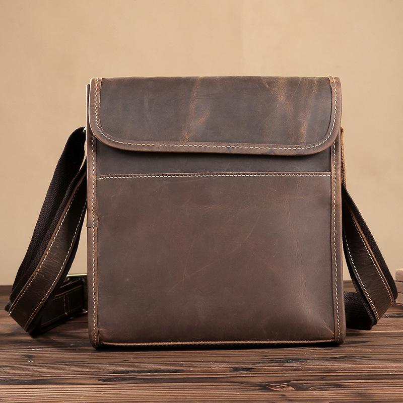 Vintage Leather Shoulder Bag - Dukesman