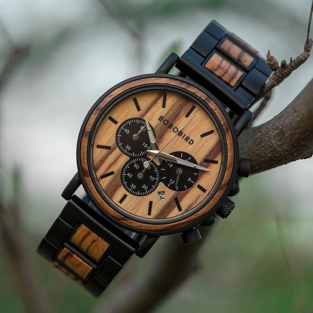 Retro Wooden Wrist Watch in Wood Gift Box | Dukesman.com