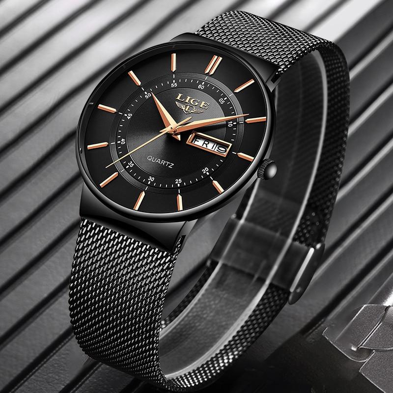 TIDE -  Waterproof Ultra Thin Steel Strap Wrist Watch for men | Dukesman.com