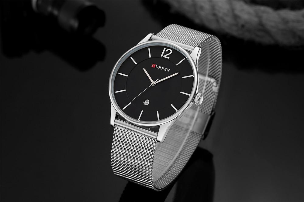 CURE - Thin Minimal Wrist Watch With Steel Strap | Dukesman.com